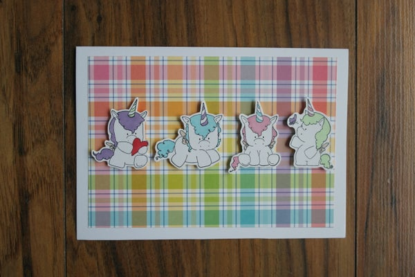 Image of 4 UNICORNS CARD