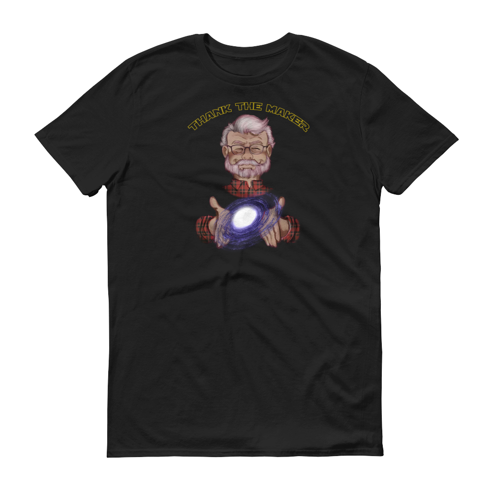 Image of Thank the Maker Tee - Short Sleeve T-Shirt (Galaxy Black)