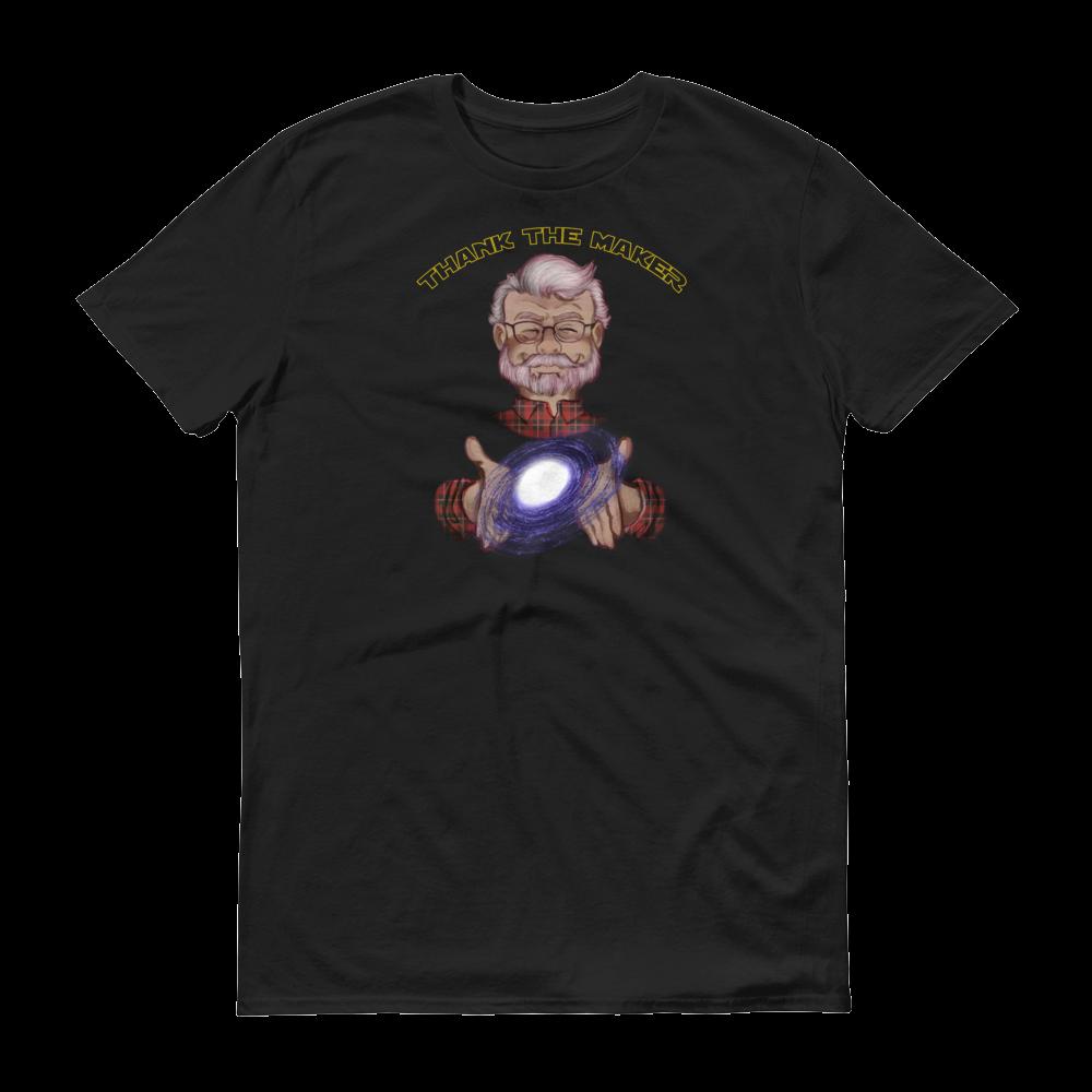 Image of Thank the Maker Tee - Short Sleeve T-Shirt (Galaxy Black)