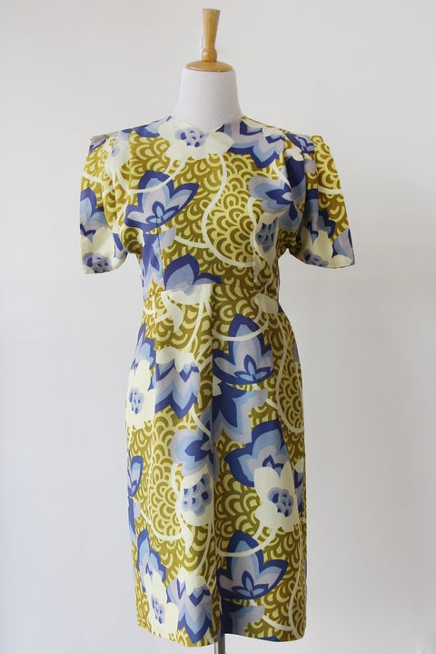 Image of Origami Sleeve Floral Dress