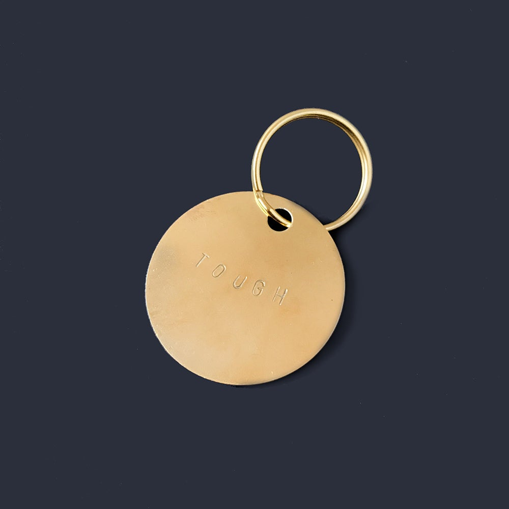 Image of Brass Message Key Tag