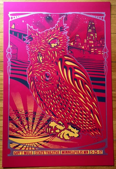 Image of Gov't Mule MPLS 5/24/2014 -Metallic Rose Variant