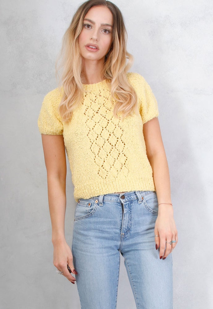 Image of VINTAGE YELLOW KNITTED TOP