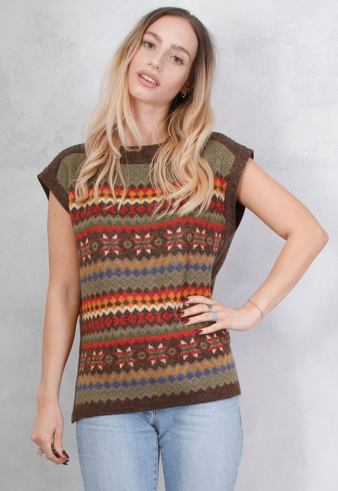 Image of VINTAGE PATTERNED KNITTED TOP
