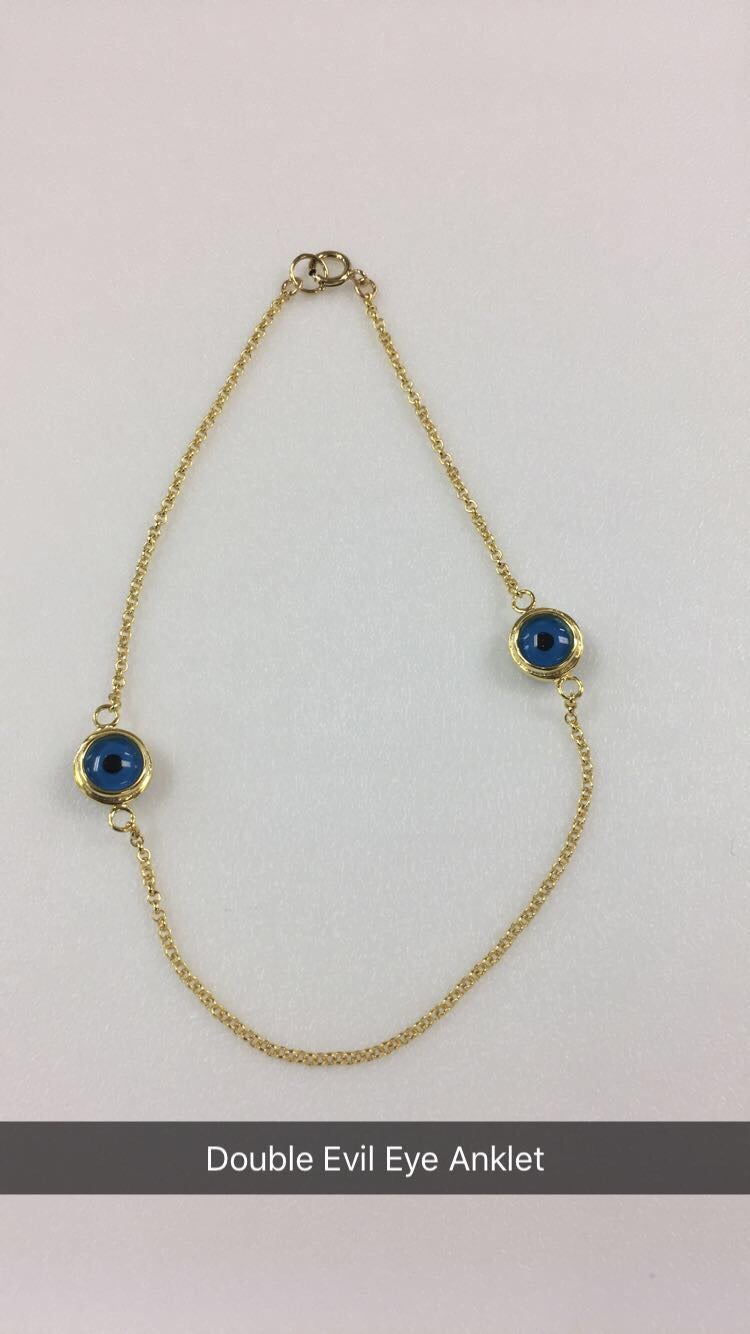 Image of Evil Eye Anklet (bracelet option available below)