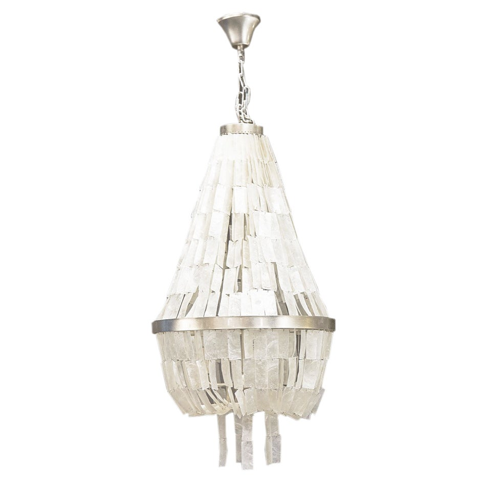 Image of Manly Capiz Shell Chandelier