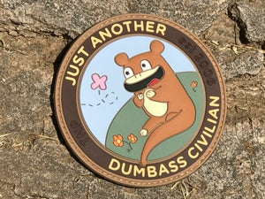 Image of 'Just Another Dumbass Civilian' PVC Patch
