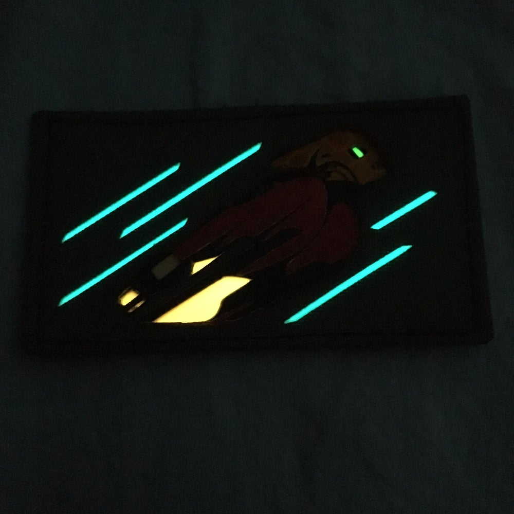 Image of Rocketeer laser cut GITD patch