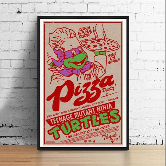 Image of Ninja Pizza Party 11 x 17 Art Print (Donatello)