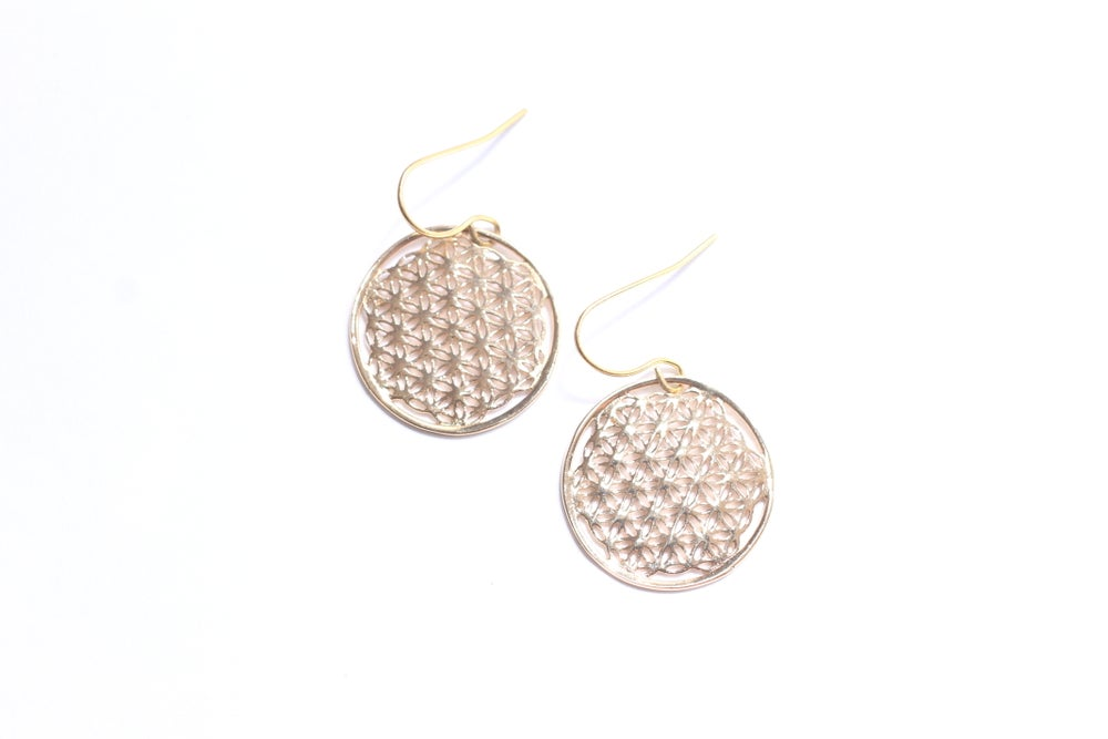 Image of Boucles d'Oreilles FLEUR DE VIE - FLOWER OF LIFE Earrings