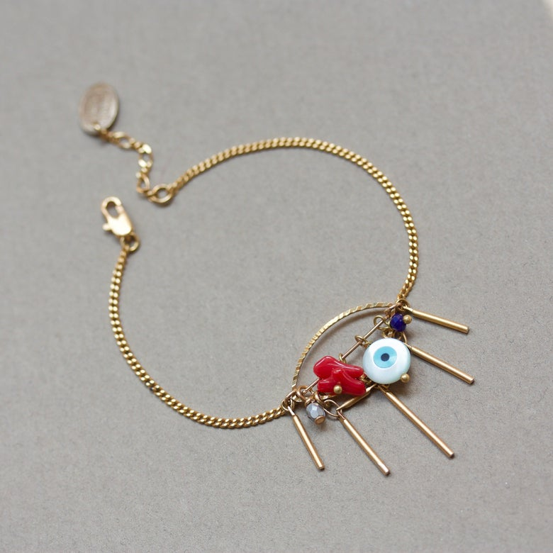 Image of Eye See You - Bracelet métal doré