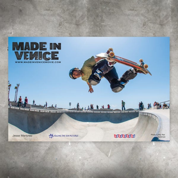 "Image of Venice Skatepark Poster –  Featuring Jesse Martinez - 11"" X 17"""