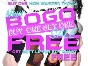 Image of BOGO *FREE* BUNDLE HIGH WAISTED THONG & BUTT LIFTER BOY SHORT