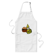 Image of Burger BBQ Apron - (three colors available)