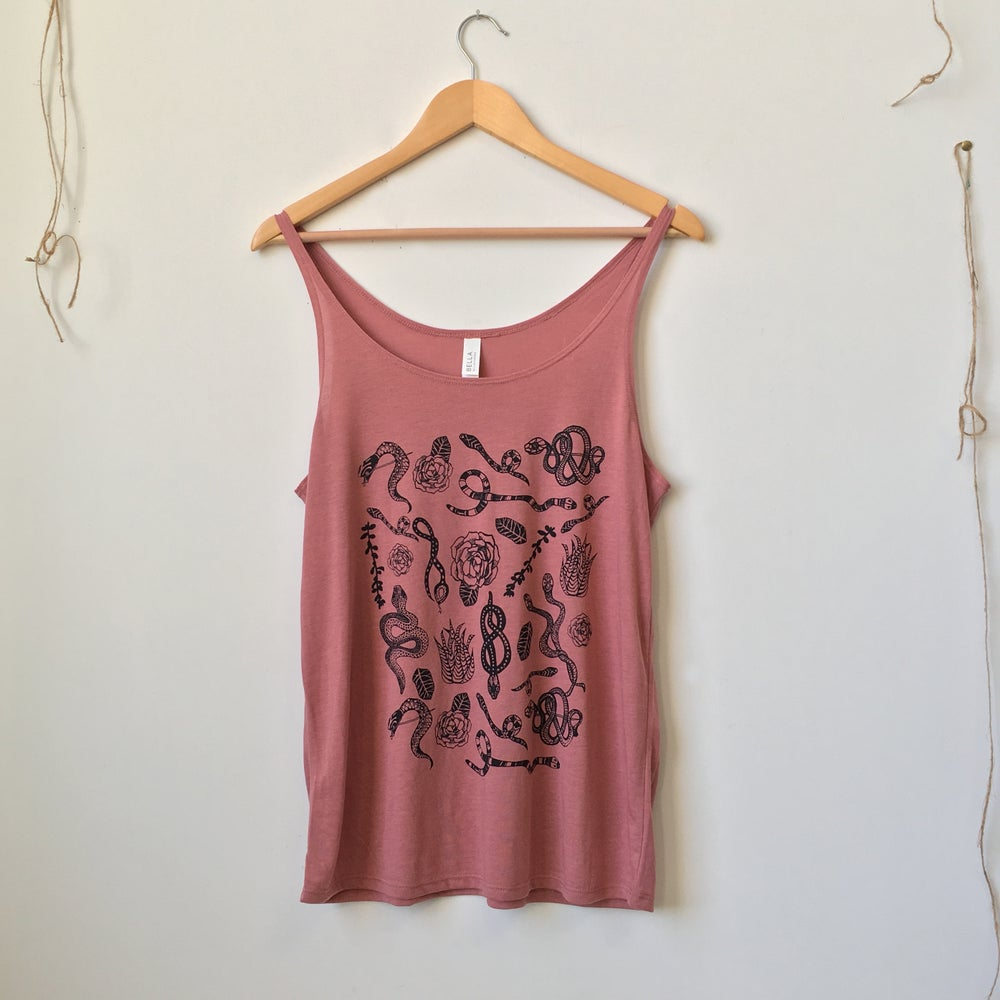 Image of Snake Flat Lay Pattern Tank