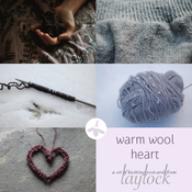 Image of Warm Wool Heart Postcard Set