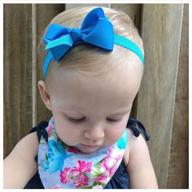 Image of Turquoise Baby Bow Headband