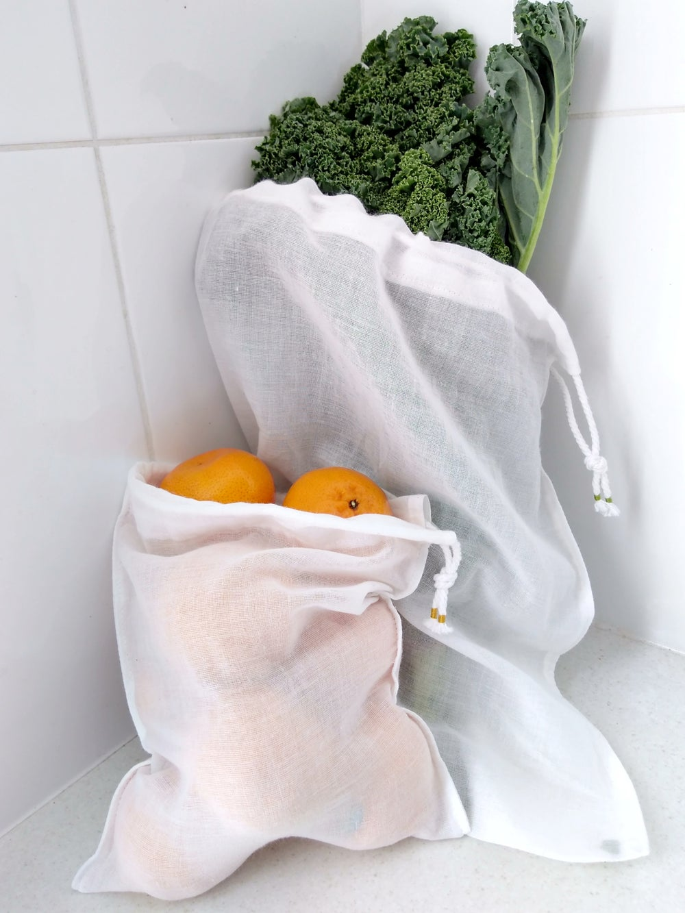 Image of Reusable produce bags, set of 3