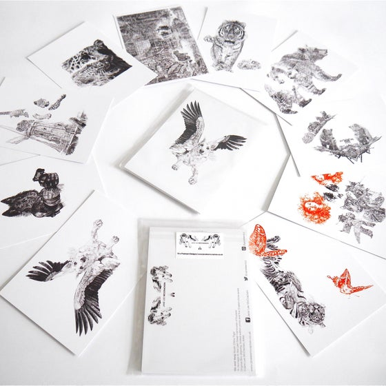 Image of SET OF 10 POSTCARDS