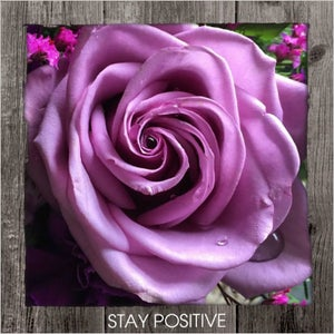 Image of Stay Positive Framed Statement
