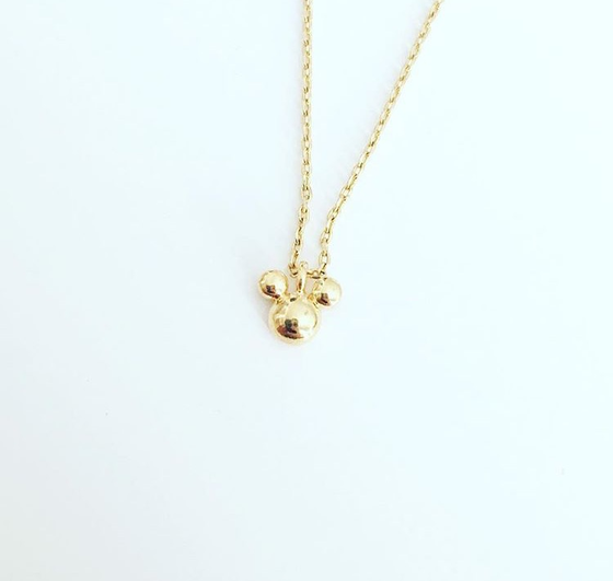 Image of Tiny Mickey inspired necklace