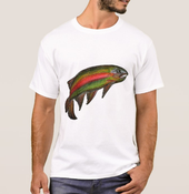 Image of Men's Rainbow Trout Crew Neck T-Shirt