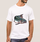 Image of Men's Salmon Crew Neck T-Shirt