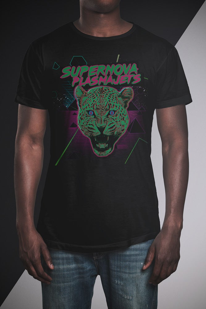 "Image of Supernova Plasmajets T-Shirt ""Leopard"" black"