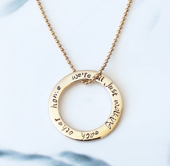 "Image of ""Circle of Love"" 9K gold Necklace"