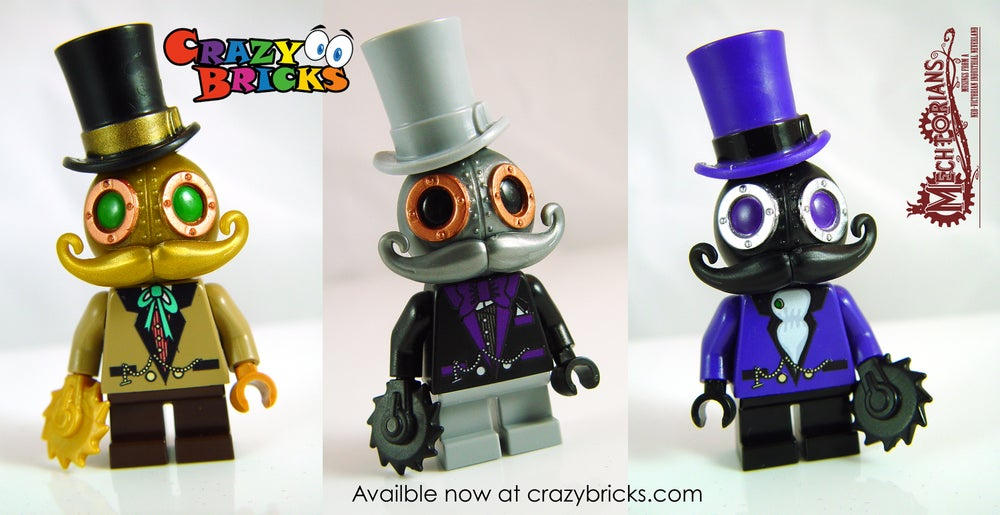 Image of NEW!  Mr. Gold Mechtorian custom minifigure