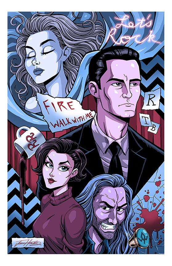 "Image of TWIN PEAKS ""LET'S ROCK"" Print"