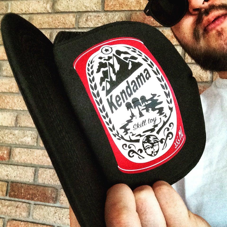 Image of Vintage Beer can Kendama Trucker Hat Version 2