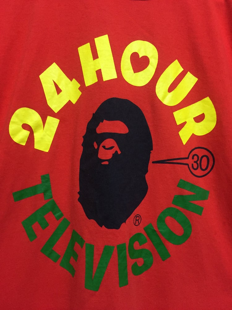 Image of Bape for 24hr TV Japan Exclusive Tee (Red)