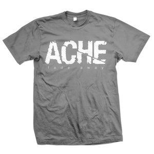 """Image of ACHE """"Logo Fade Away"""" Charcoal Gray T-Shirt"""
