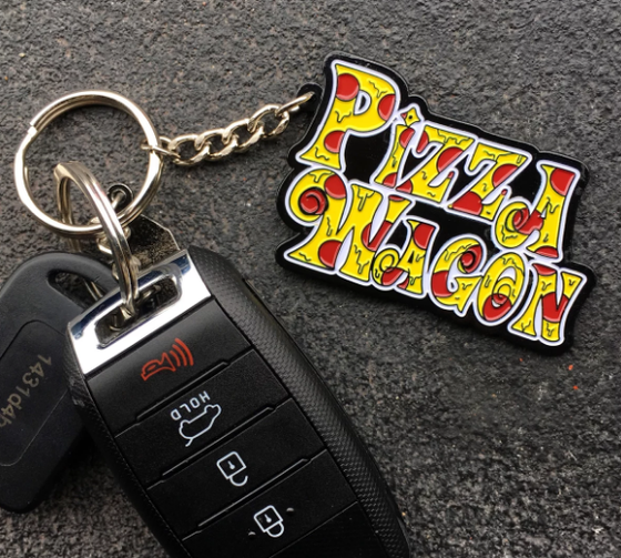 Image of PIZZA WAGON KEYCHAIN