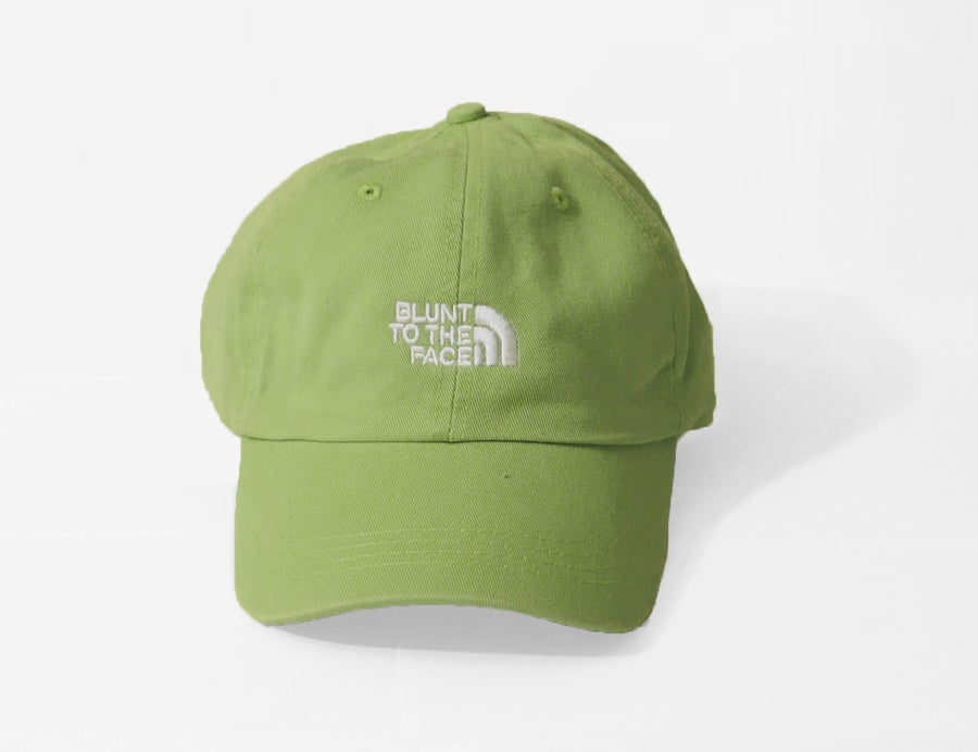 Image of Blunt To The Face Dad Hat (Light Green)