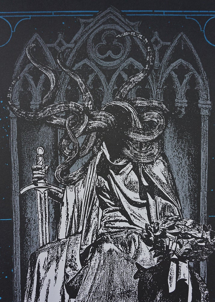 Image of 'serpents in the house of god' print