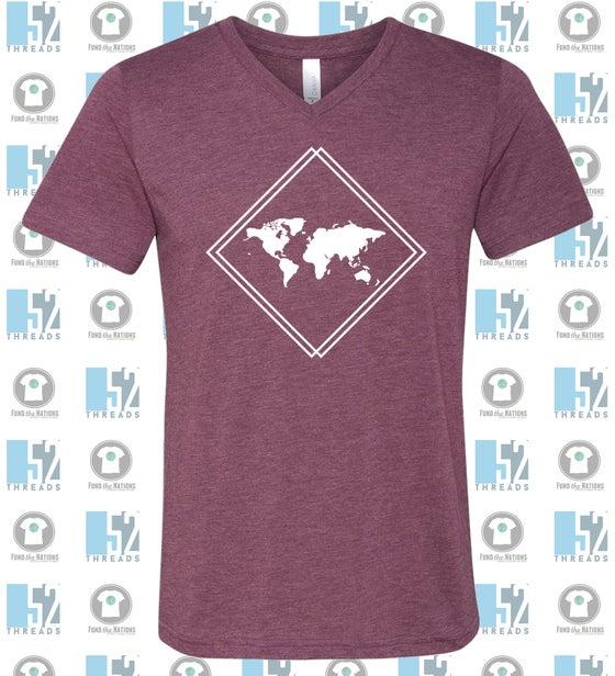 Image of V-neck Soft Style T-shirt {maroon}