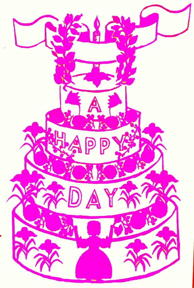 Image of A HAPPY DAY CAKE CARD