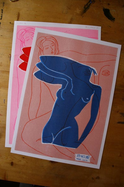 Image of poster/zine Riso print