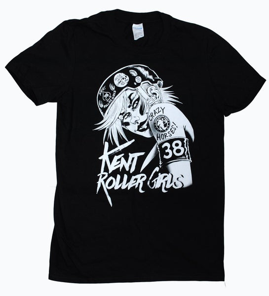 Image of KRG roller girl tee (by TANK GIRL artist, Rufus Dayglo)
