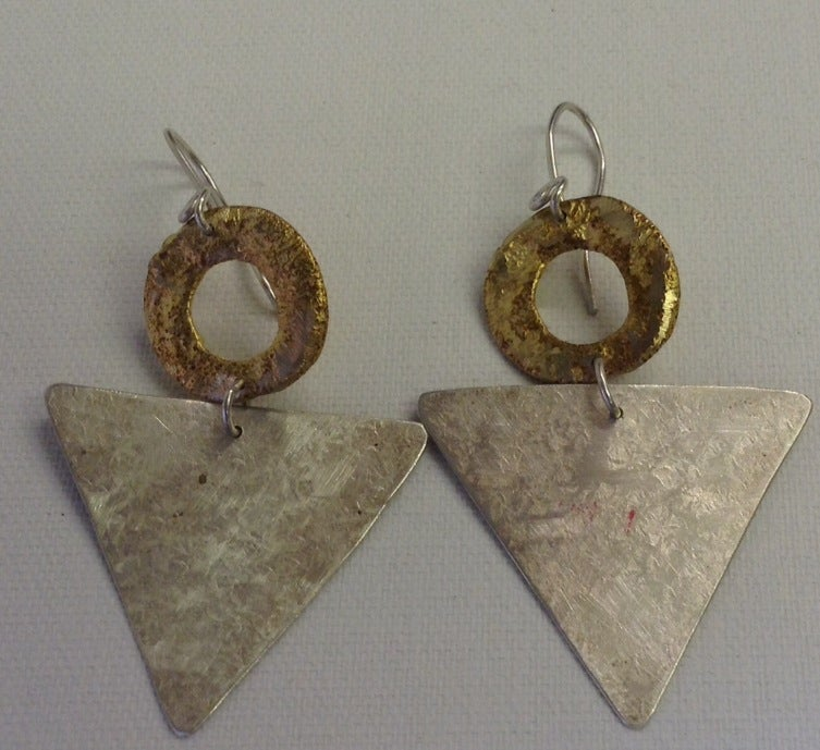 Image of Rustic Triangle and circle Drop