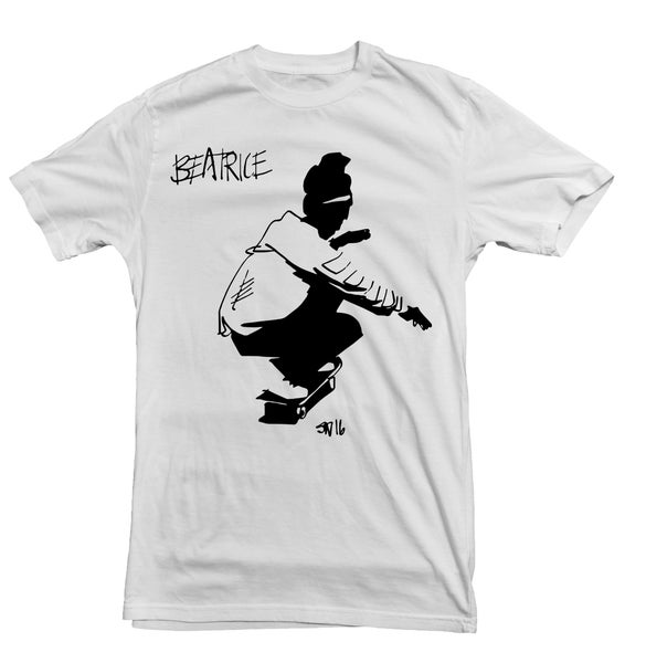 Image of beatrice skate logo tee pre-order 6-11-17 to 6-20-17