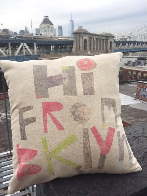 Image of Hi From Brooklyn Pillow