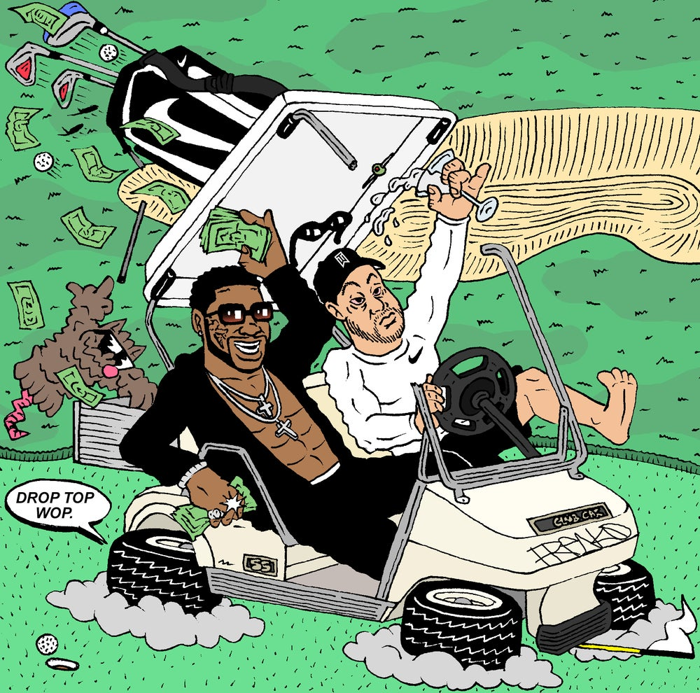 "Image of ""TRADING PLACES 2: WOP AND TIGER"" PRINT"
