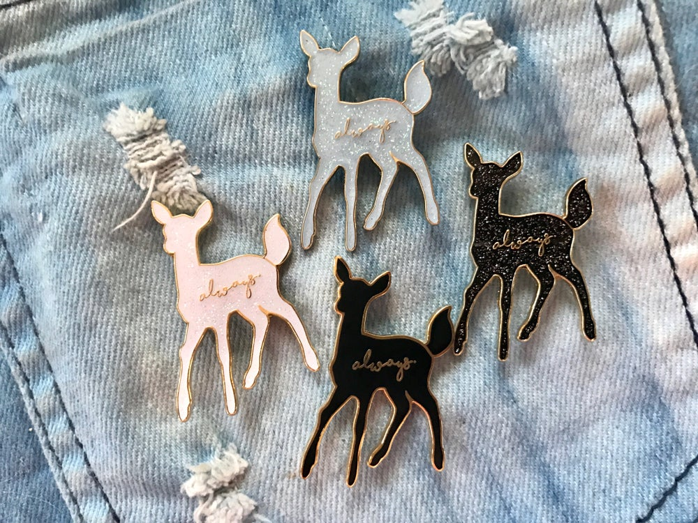 Image of Always Doe Patronus Harry Potter Enamel Pin