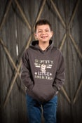 Image of Kids Graphite Hooded Top