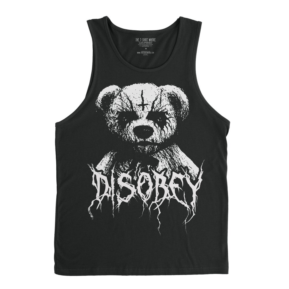 Image of Black Metal Teddy Disobey - Men's Tank