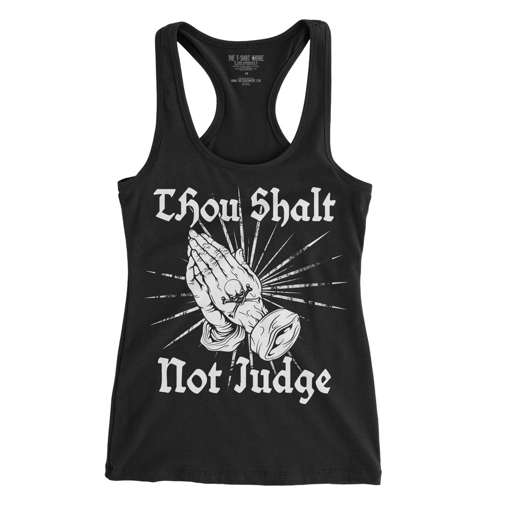 Image of Thou Shalt Not Judge - Ladies' Racerback Tank