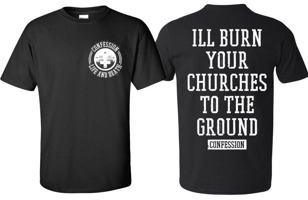 Image of CHURCHES TEE BLACK